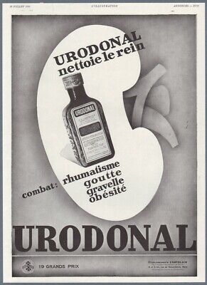 1930 Print Ad Urodonal Vial Medicine Remedy Against Rheumatism