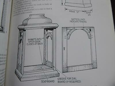 Make Repair Wooden Clock Cases Bracket Wall Mantle Cases Plans Measurements Book