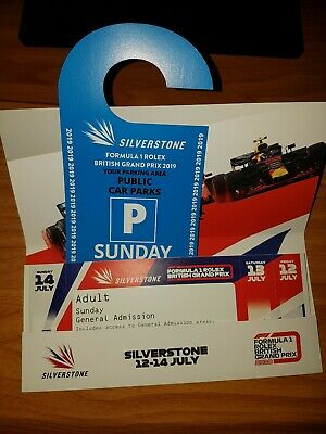 F1 Silverstone 2019 tickets. 2 adult general admission tickets plus parking pass