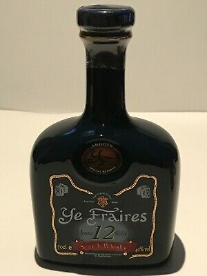 WHISKY YE FRAIRES 12 YEARS OLD RARE SCOTCH WHISKY DECANTER 70cl. 40%