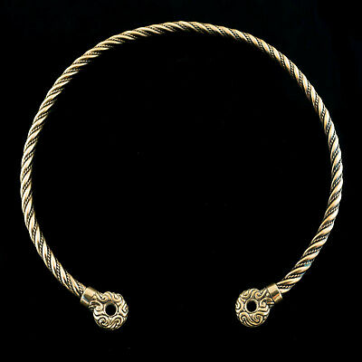 CELTIC Bronze TORC with Terminals TORQUES Ancient Warrior Neck Ring WULFLUND
