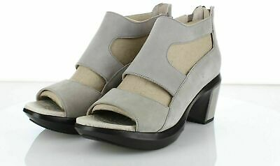 99e6f8b90a 2229 Jambu Rio Light Taupe Leather Demi Wedge Sandal Women's Sz 8.5 M