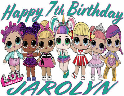 Custom Personalized LOL Doll Group Birthday T-Shirt or Creeper