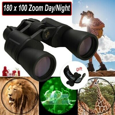 Waterproof HD 180x100 Zoom Military Binoculars Optics Hunting Camping Day/Night