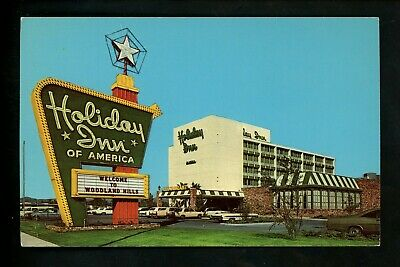 Holiday Inn Motel Hotel Postcard California CA Los Angeles Woodlin Hills