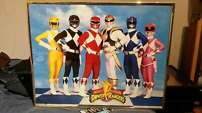 Mighty Morphin Power Rangers Poster 1994 16 x 20 VINTAGE Framed Excellent