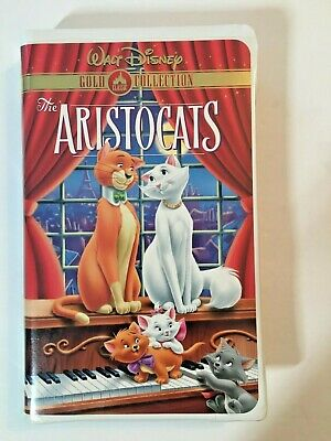 "Walt Disney ""The Aristocats"" Gold Classic Collection, TESTED VHS Tape, 2000"