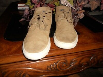 Polo Ralph Lauren Joplin Cognac Suede Chukka Boots Shoes Mens Lace Ups 8.5 D Usa