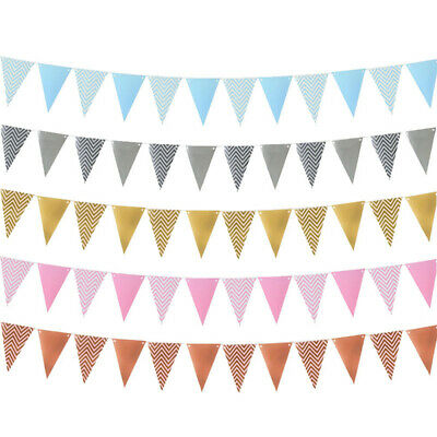 Party Wedding Supplies Party Decor Bunting Garland Wavy Banner Paper Flag