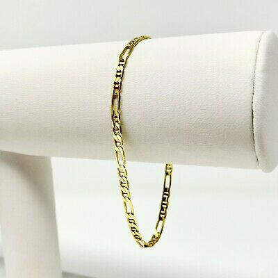 d97bf9b7de753 14K TWO TONE Gold Italy 5.3mm Gucci Figaro Tiger Eye Link Combo ...
