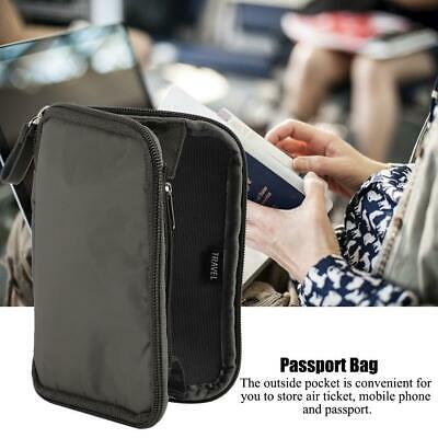 Travel Wallet Passport Holder Document Credit Card Bag Organizer Case Portable