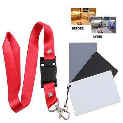 18% Photography Studio Neck Strap Digital Color Balance Card Gray White Black