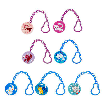 Kids Baby Chain Soothers Clip Holder Cartoon Pacifier Anti Lost Infant Pacifier