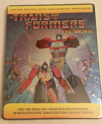 New steelbook! Transformers: The Movie (Blu-ray, 2016, 30th Anniversary) sealed