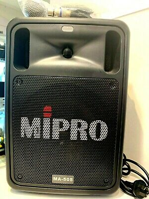 MIPRO MA-505 Portable Wireless PA System + mic with 2 x MRM70R Built in (B46557)