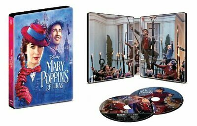 Mary Poppins Returns - Best Buy Exclsuive Steelbook (Blu-ray + 4K UHD) NEW!!