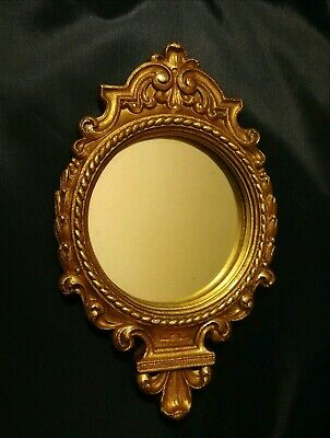 LOVELY VINTAGE GOLD Syroco ORNATE WALL MIRROR