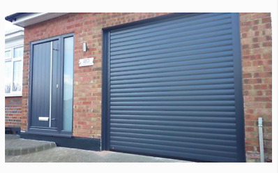 Electric Garage Door  7Ft X 7.6 Ft Insulated Anthricite Grey  Ex Display New