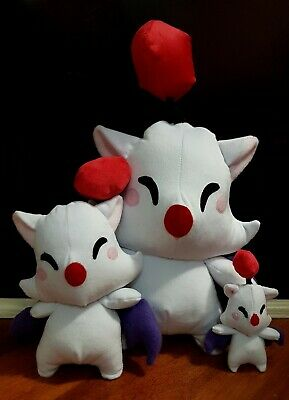 Final Fantasy Moogle Plush hand made. Chocobo and Cactuar available