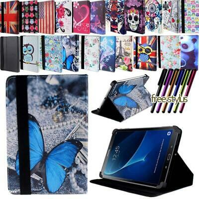 """For 7"""" 8"""" 10"""" Samsung Galaxy Tab A A6 - Leather Tablet Stand Folio Cover Case"""
