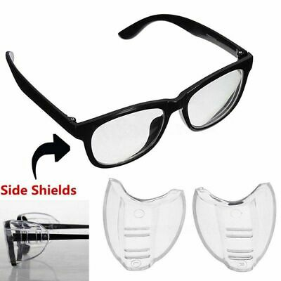 1 Pair Goggles Side Shields Eye Protective Flexible Glasses Clear Safety