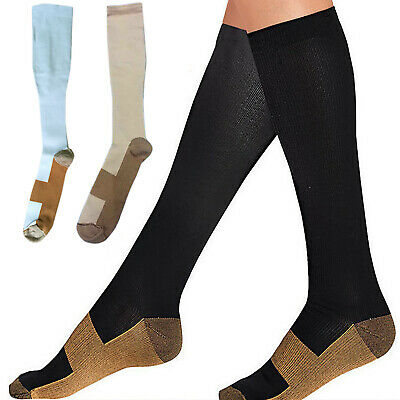 1 Pair Compression Socks Anti Fatigue Unisex Travel DVT Comfort Sports Stocking