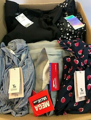 Job Lot Bundle of 27 Pieces Mixed Highstreet Ladies Mens Clothing BNWT #19E