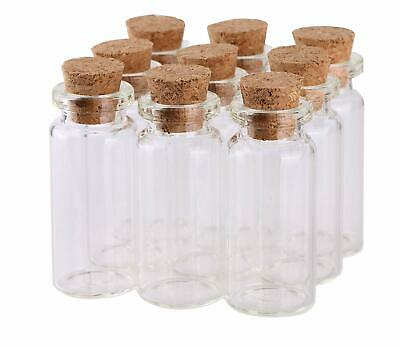 100Pcs Small Glass Bottles with Cork Stopper Tiny Clear Vials Storage Container