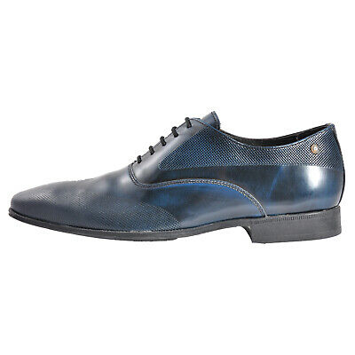 Base London Tamar Mens Formal Dress Leather Navy Shoes (Sample) UK 8 Only