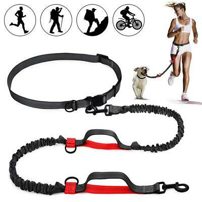 Adjustable Hands Free Dog Running Jogging Leash - Waist Belt Style