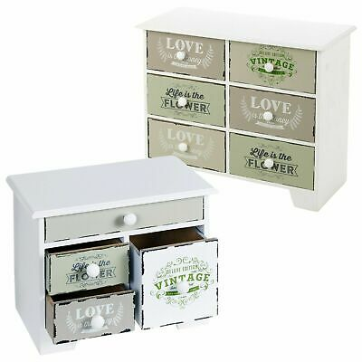 5-6 Vintage Wooden Drawers Storage Boxes Shabby Chic Cupboard Décor Bits & Bobs