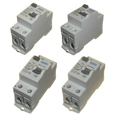 30mA RCD 25 40 63 or 80 Amp DIN Rail Earth Fault Circuit Protection RCCB Breaker