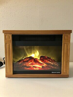 Pleasant Heat Surge Electric Fireplace In Amish Cherry Wood With Interior Design Ideas Inesswwsoteloinfo
