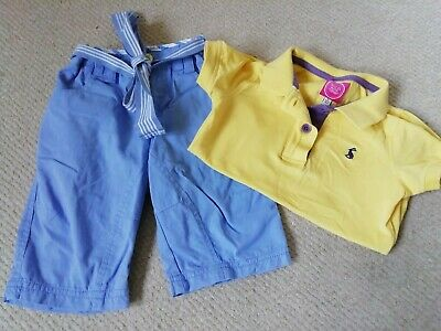 Girls Joules Shorts and T-Shirt Set Age 3 Years **GORGEOUS**