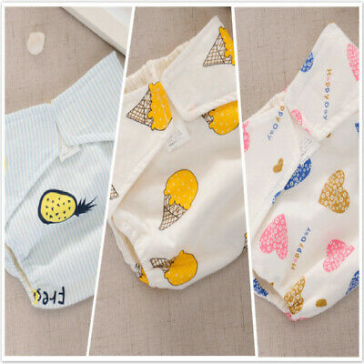 Infant Kids Cute Reusable Training Pant Waterproof Cloth Diaper Nappy Cover CB