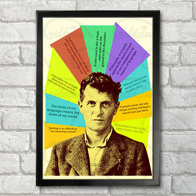 Ludwig Wittgenstein Poster Print A3+ 13 x 19 in - 33 x 48 cm Quotes Design