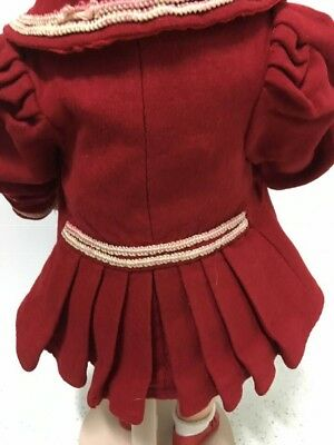 """Antique doll wool coat fits 17"""" Antique doll"""
