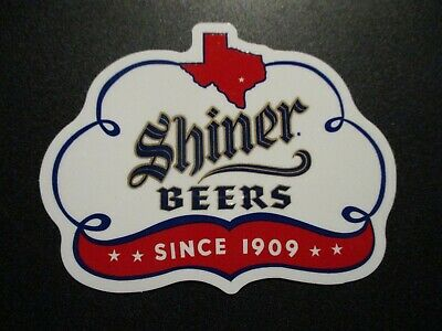 SHINER BEERS Bock texas white LOGO STICKER decal craft beer brewery brewing