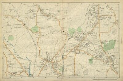 BACON 1933 map East Finchley Muswell Hill Highgate Crystal Palace N LONDON