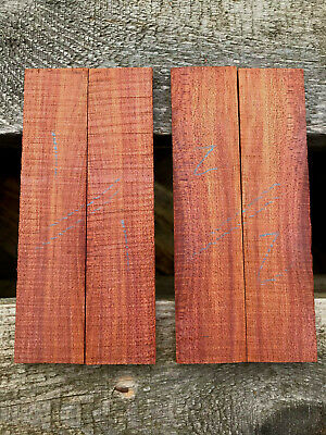 Bloodwood / satine bookmatched razor scale small knife handle set 100 x 23 x 5mm