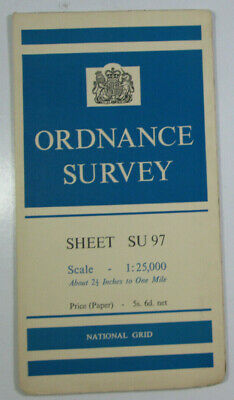1961 Old OS Ordnance Survey 1:25000 First Series Provis Map SU 97 Windsor
