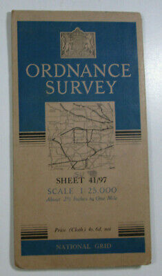 1950 Old OS Ordnance Survey 1:25000 First Series Provis Map SU 97 Windsor 41/97