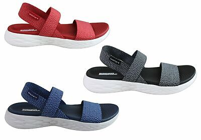 New Skechers Womens On The Go 600 Cushioned Comfortable Flat Sandals