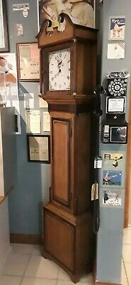 Grandfather clock circa 1890, 30 hour movement,  strikes on a bell, lovely case