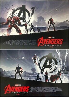 2019 AVENGERS: ENDGAME 11.5 X 15 amc IMAX movie POSTER - set of 2