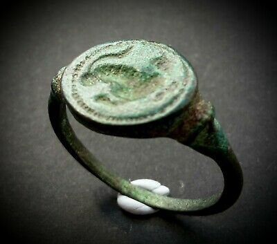 ANCIENT ROMAN BRONZE FACINUS MAGIC SEAL RING - 1st B.C TO 1st CENTURY A.D