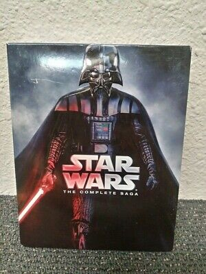 Star Wars The Complete Saga Blu-Ray 9 Disc Set Episodes 1-6 With 40+ Hours Bonus