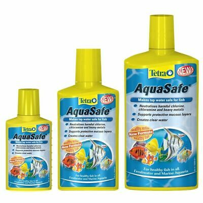 Tetra Aquasafe Aquarium Fish Tank Dechlorinator Tap Water Conditioner