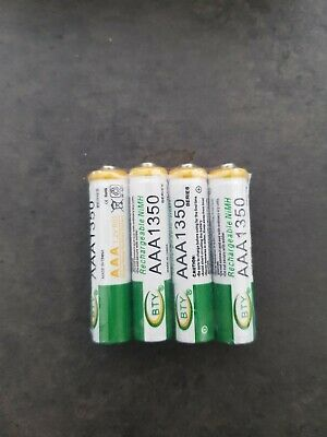 4 PILES ACCU BATTERIE RECHARGEABLE AAA LR03 1350mAh 1.2V NI-MH NIMH LR3 R03 R3