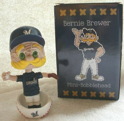 2018 Milwaukee Brewers Mini Bernie Brewer Stitch N Pitch Bobblehead SGA
